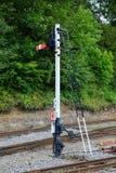 Железнодорожный сигнал семафора Стоковое Изображение