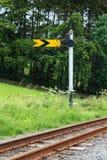 Железнодорожный сигнал семафора Стоковые Изображения
