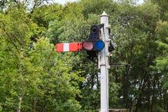 Железнодорожный сигнал семафора Стоковое фото RF