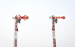 Железнодорожный сигнал Стоковые Фотографии RF