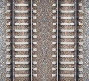 2 железнодорожных линии и гравия Стоковые Фотографии RF
