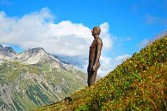 Железные горные вершины человека Стоковое фото RF