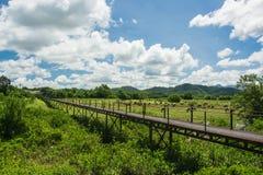 Железные ориентир ориентиры моста на Takuapa, Phang Nga Таиланде Стоковая Фотография