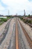 Железные дороги в промышленной зоне Стоковые Изображения