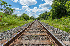 Железные дороги, канадские национальные железные дороги - Канада Стоковое Изображение