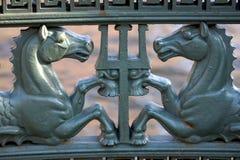Железные лошади в Санкт-Петербурге Стоковая Фотография RF