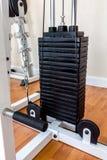 Железные плиты оборудования поднятия тяжестей/плит машины поднятия тяжестей Стоковые Фотографии RF