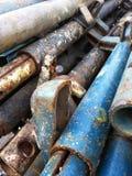 Железные трубы в строительной площадке Стоковые Фотографии RF