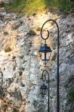 Железные уличные фонари Стоковые Фото