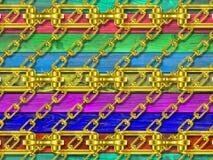 Железные цепи с деревянной текстурой иллюстрация вектора
