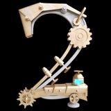 Железный механически номер Стоковое фото RF