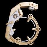 Железный механически номер Стоковое Фото