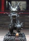 Железный дракон в одном из парков, Пекин стоковая фотография rf