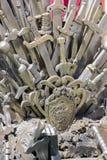 Железный трон сделанный с шпагами, сценой фантазии или этапом воссоздание Стоковая Фотография RF