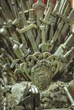 Железный трон сделанный с шпагами, сценой фантазии или этапом воссоздание Стоковое фото RF