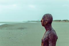 Железный человек, пляж Crosby Стоковые Изображения