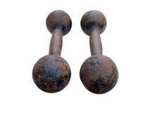 2 железных гантели Стоковые Фотографии RF