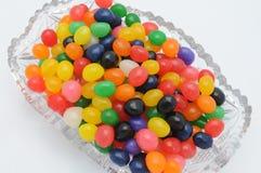 Желейные бобы в кристаллическом блюде Стоковое Фото
