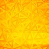 Желтая абстрактная предпосылка треугольников Стоковое Фото