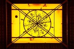 Желтая абстрактная предпосылка Стоковое Изображение RF