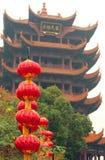 Желтая башня крана в провинция Ухань, Хубэй Китая Стоковые Фото