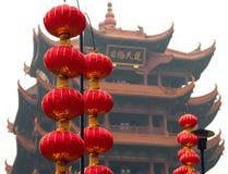 Желтая башня крана в провинция Ухань, Хубэй Китая Стоковая Фотография RF