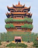 Желтая башня крана в Ухань Стоковое фото RF