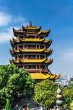Желтая башня крана в Ухань Стоковое Изображение