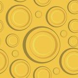 Желтая безшовная картина Стоковые Фотографии RF