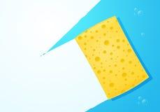 Желтая губка Стоковые Изображения RF