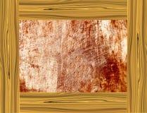 Желтая деревянная рамка Стоковые Фото