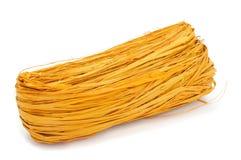 Желтая естественная рафия Стоковое Изображение