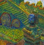 Желтая лестница Стоковые Изображения RF
