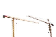 Желтая изолированная башня крана конструкции 2 Стоковое Фото