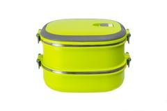 Желтая изолированная коробка для завтрака Стоковое Изображение RF