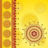 Желтая индийская предпосылка Стоковое фото RF