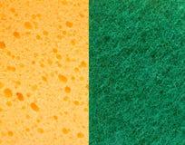 Желтая и зеленая губка Стоковое Фото