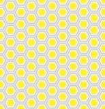 Желтая и серебряная предпосылка сота Стоковая Фотография