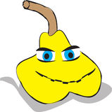 Желтая иллюстрация груши стоковая фотография