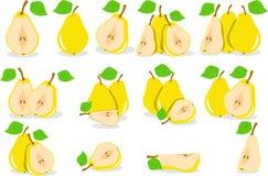 Желтая иллюстрация груш Стоковые Изображения
