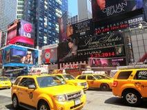 Желтая кабина NYC Стоковые Фотографии RF