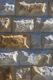 Желтая каменная предпосылка картины кирпичей Стоковое Изображение