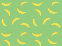 Желтая картина вектора банана Стоковые Изображения