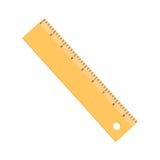 Желтая квартира значка правителя изолированная на белой предпосылке стоковые фото