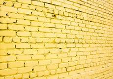 Желтая кирпичная стена Стоковое Фото