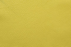 Желтая кожаная grained картина предпосылки текстуры Стоковое фото RF