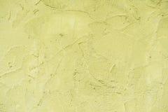 Желтая конкретная стена текстуры для абстрактной предпосылки Стоковое Изображение