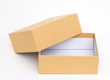 Желтая коробка на белой предпосылке Стоковая Фотография RF
