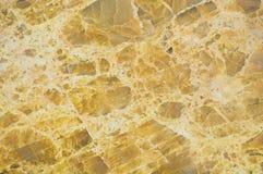 Желтая мраморная текстура Стоковые Фотографии RF