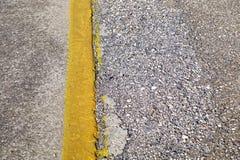 Желтая нашивка Стоковая Фотография